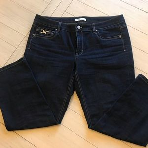 White House Black Market Capri Denim size 14